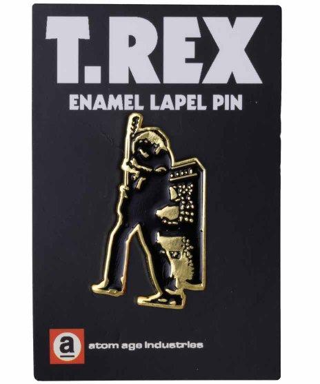 T-Rex バンドピンバッジ エレクトリックウォーリアカラー:BK/WH/RD<BR>サイズ:縦40mm<br>エレクトリックウォーリアのデザイン