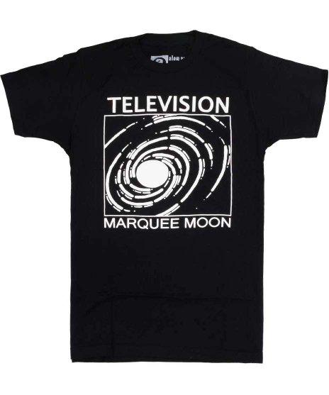 テレヴィジョン ( Television ) Marquee Moon バンドTシャツカラー:ブラック<br>サイズ:S〜L<br>名盤MARQUEE MOONのデザイン