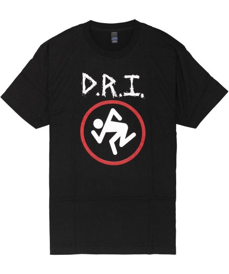 DRI オフィシャルバンドTシャツ Skankingロゴ カラー:ブラック<br>サイズ:S〜L<br>DRIスカンキングロゴ