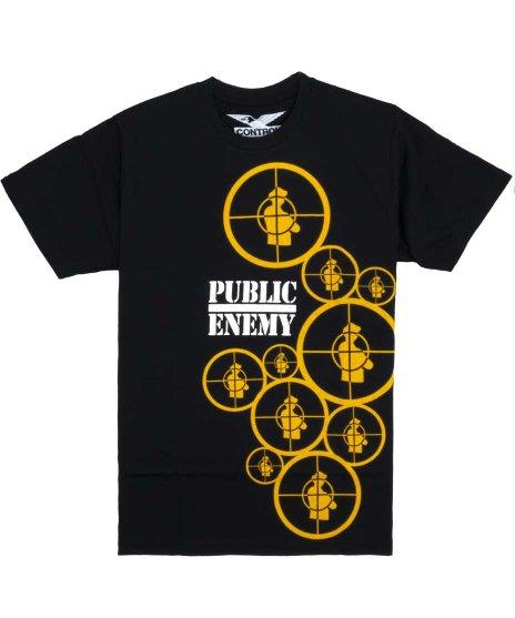 パブリックエネミー ( Public Enemy ) Multi Target オフィシャルバンドTシャツカラー:ブラック<br>サイズ:M〜XL<br>ランダムに配置されたターゲットロゴ