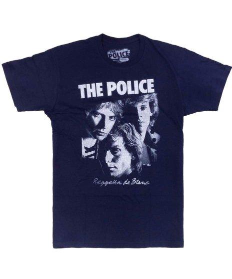 ザ ポリス ( The Police ) Reggatta De Blanc オフィシャルバンドTシャツカラー:ネイビー<br>サイズ:S〜L<br>白いレガッタのデザイン