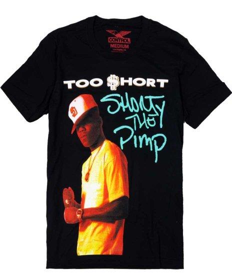 トゥーショート ( Too Short ) Short is Pimp バンドTシャツカラー:ブラック<br>サイズ:M〜XL<br>1992年のアルバムジャケットデザイン