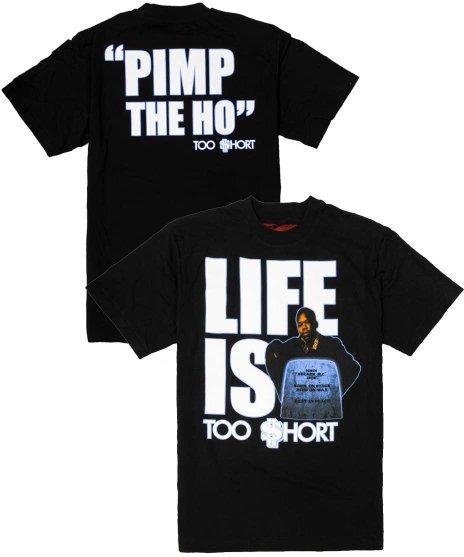 トゥーショート ( Too Short ) Life is Too Short バンドTシャツカラー:ブラック<br>サイズ:M〜XL<br>1988年のアルバムジャケットデザイン