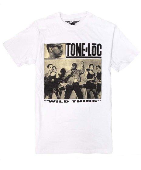 トーン ロック ( Tone Loc ) Wild Thing バンドTシャツカラー:ホワイト<br>サイズ:M〜XL<br>Wild Thingのシングルジャケットデザイン