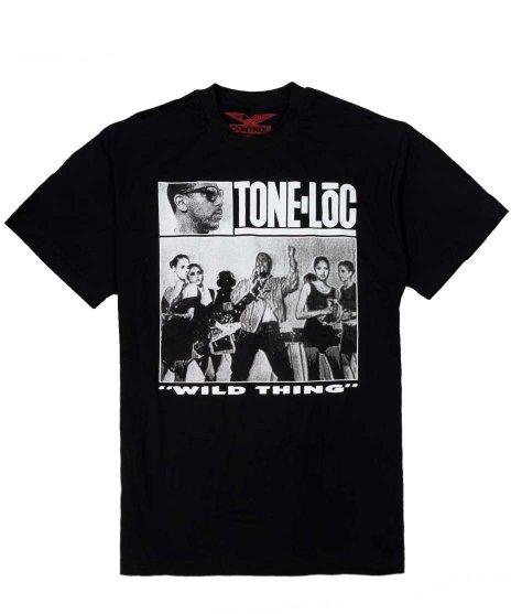 Tone Loc オフィシャルバンドTシャツ Wild Thing 【Black】カラー:ブラック<br>サイズ:M〜XL<br>Wild Thingのシングルジャケットデザイン
