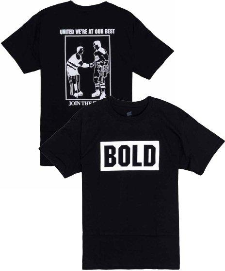 Bold Join The Fight バンドTシャツカラー:ネイビー<br>サイズ:S〜XL<br>SxE定番のBOLDのバンドロゴのみをデザインしたTシャツです
