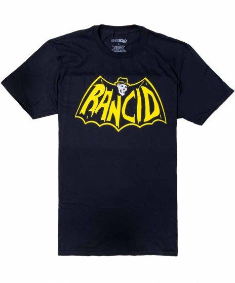 ランシド ( Rancid ) Skele Tim Bat バンドTシャツカラー:ブラック<br>サイズ:S〜L<br>ティムの頭蓋骨にコウモリのデザイン