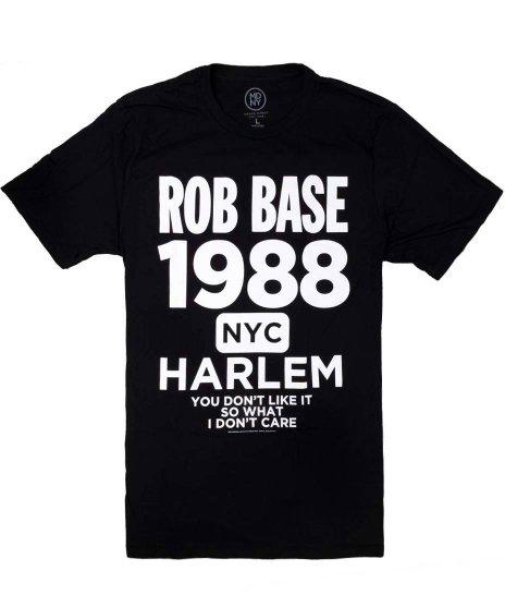 ロブ ベース ( Rob Base ) Harlem オフィシャルバンドTシャツカラー:ブラック<br>サイズ:M,L,XL<br>1988とハーレムのデザイン