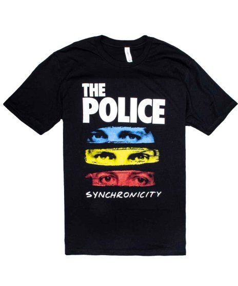 ザ ポリス ( The Police ) シンクロニシティ— バンドTシャツカラー:ブラック<br>サイズ:S〜L<br>有名な3色のデザイン