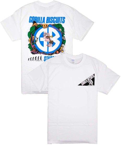 ゴリラ ビスケッツ ( Gorilla Biscuits ) Jungle オフィシャルバンドTシャツカラー:ホワイト<br>サイズ:S〜L<br>バックには、大きくライブフォトをプリントしたデザイン