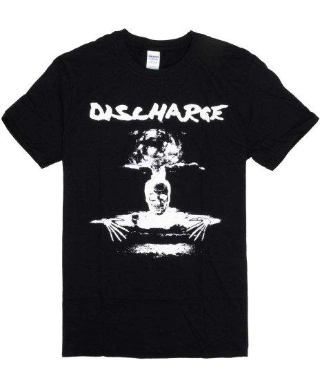 ディスチャージ ( Discharge ) バンドTシャツ DEATH CLOUD カラー:ブラック<br>サイズ:S〜XL<br>アルバムHear Nothing...のデザインです