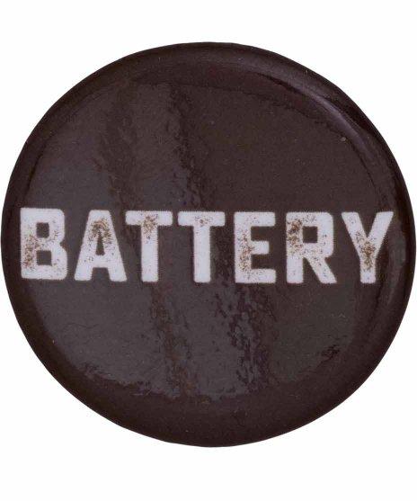 Battery バンド缶バッジ バンドロゴサイズ:直径約32mm<br> 素材:スチール製<br>バンドロゴのデザイン。