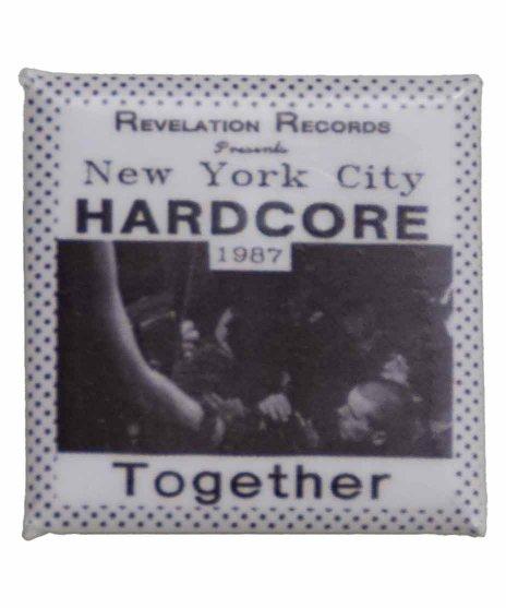 Revelation Records バンド缶バッチ New York City Hardcore 1987アートワークサイズ:27mmの正方形<br> 素材:スチール<br>New York City Hardcore 1987 - Together