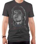 デヴィッド・ボウイ デヴィッド ジギーヴィンテージ バンドTシャツカラー:ダークチャコール<br>サイズ:S〜L<br>ジギー・スターダストのデザイン