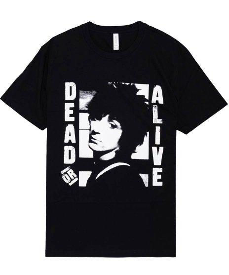 ジョニーサンダース ( Johnny Thunders ) Dead Or Alive バンドTシャツカラー:ブラック<br>サイズ:M,L、XL<br>シングル「Dead Or Alive」のジャケットデザイン