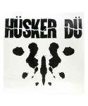 Husker Du  ( ハスカー・ドゥ ) バンドステッカー ロゴサイズ:10.5 × 10.8cm<br>ホワイトにブラックデザイン