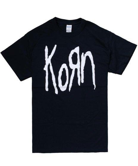コーン ( Korn ) ロゴ オフィシャルバンドTシャツカラー:ブラック<br>サイズ:M,L,XL<br>シンプルなKORNのロゴデザイン。