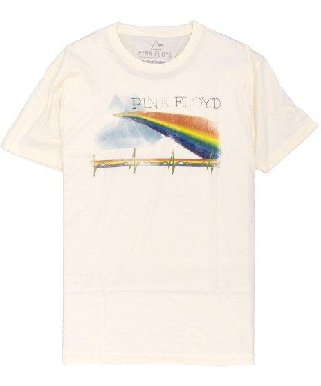 ピンク フロイド ( Pink Floyd ) Prism Color Relic オフィシャルバンドTシャツカラー:アイボリー<br>サイズ:M、L<br>定番プリズムのデザイン