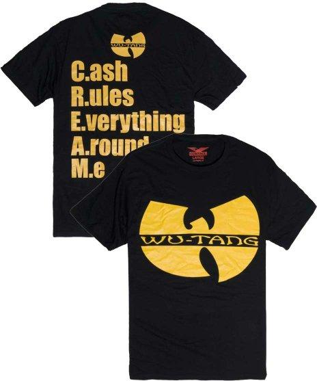 WU-TANG CLAN バンドTシャツ  C.R.E.A.M. カラー:ブラック<br>サイズ:L,XL<br>ヴィンテージ・ハーフフェイスデザイン。