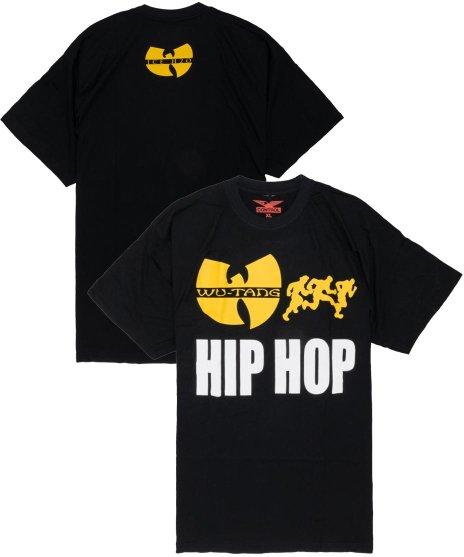 WU-TANG CLAN バンドTシャツ RUN HIP HOP カラー:ブラック<br>サイズ:L,XL<br>ヴィンテージ・ハーフフェイスデザイン。