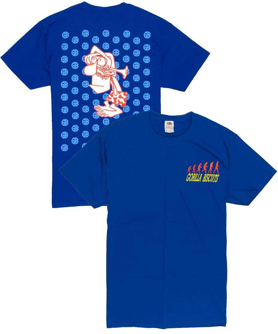 ゴリラ ビスケッツ ( Gorilla Biscuits ) Start Today マスタッシュマン バンドTシャツ