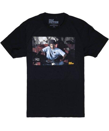 パルプ・フィクション ( Pulp Fiction ) ジャクソン ダイナー 映画 サミュエル メンズTシャツカラー:ブラック<br>サイズ:M〜XL<br>サミュエル ジャクソン演ずるジュールのデザイン