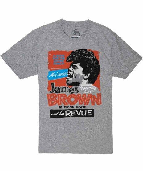 ジェームス ブラウン ( James Brown ) James Brown and His Review バンドTシャツカラー:グレー<br>サイズ:M,L<br>James Brown and his revueのデザイン