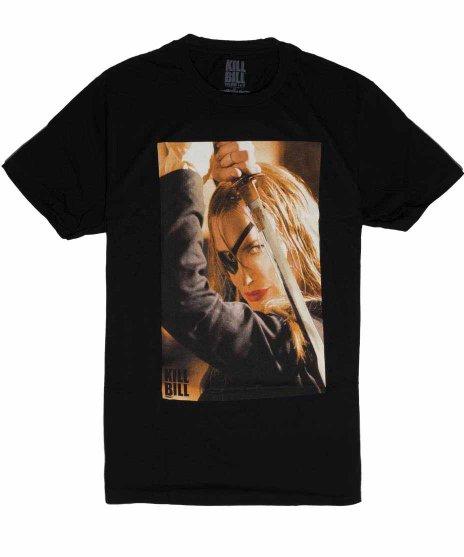 キルビル ( Kill Bill ) 映画 エル・ドライバー メンズTシャツカラー:ブラック<br>サイズ:S〜L<br>エル・ドライバーのデザイン