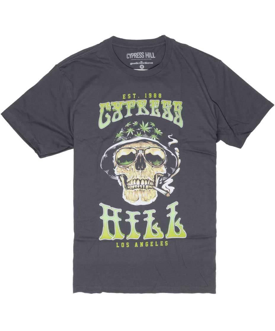 サイプレス ヒル ( Cypress Hill ) スモーキングスカル バンドTシャツ
