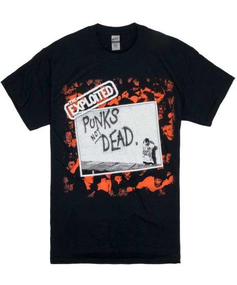 The Exploited ( エクスプロイテッド ) Punks Not Dead バンドTシャツカラー:ブラック<br>サイズ:S〜L<br>エクスプロイテッドのパンクスノットデッドのジャケットデザイン