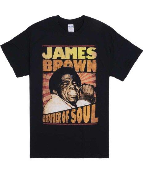 ジェームス ブラウン ( James Brown ) The Godfather Of Soul 2 バンドTシャツカラー:ブラック<br>サイズ:M〜XLL<br>