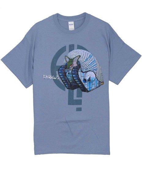 エマーソン・レイク&パーマー タルカス バンドTシャツカラー:ブルー<br>サイズ:M,L<br>タルカスのデザイン