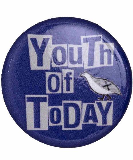 Youth Of Today ( ユース オブ トゥデイ ) バンド缶バッジ One Night Standカラー:パープル<br>サイズ:32mm<br>One Night Stand ジャケットデザイン