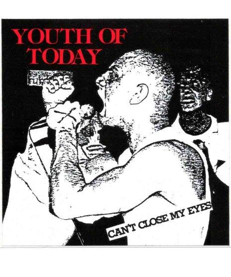 Youth Of Today ( ユースオブトゥデイ ) バンドステッカー Can't Close My Eyesカラー:ブラック<br>サイズ:10x10�<br>Youth of TodayのCan't Close My Eyesのジャケットデザイン。