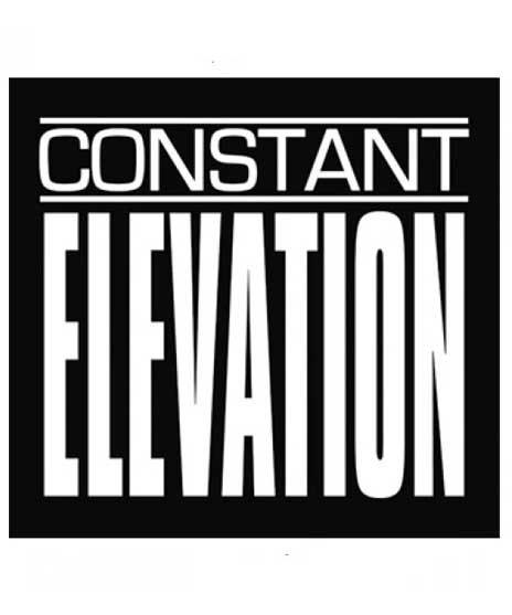 Constant Elevation ロゴ ステッカーカラー:BLK × WHT<br>サイズ:9.3 × 10.3cm<br>バンドロゴs