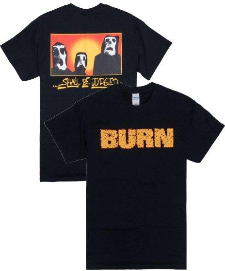 Burn Shall Be Judged (ブラックとグレー有) バンドTシャツカラー:ブラックとグレー<br>サイズ:M,L,XL<br>BURNのバンドロゴ(バックプリント有)