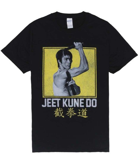 ブルース・リー 映画 メンズTシャツ 截拳道カラー:ブラック<br>サイズ:M、L、XL<br>ブルースリー公式商品