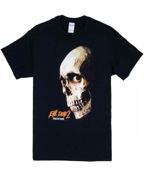 死霊のはらわた2 映画 ポスターデザイン メンズTシャツカラー:ブラック<br>サイズ:M〜XL<br>死霊のはらわた2のポスターデザイン。