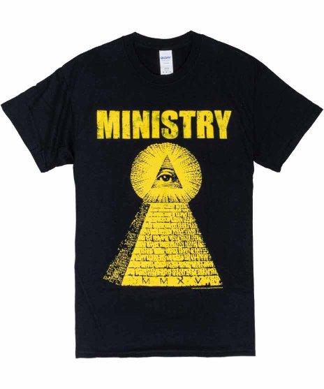 Ministry(ミニストリー) ピラミッド バンドTシャツカラー: BLK<br>サイズ:M,L,XL<br>ピラミッドのデザイン