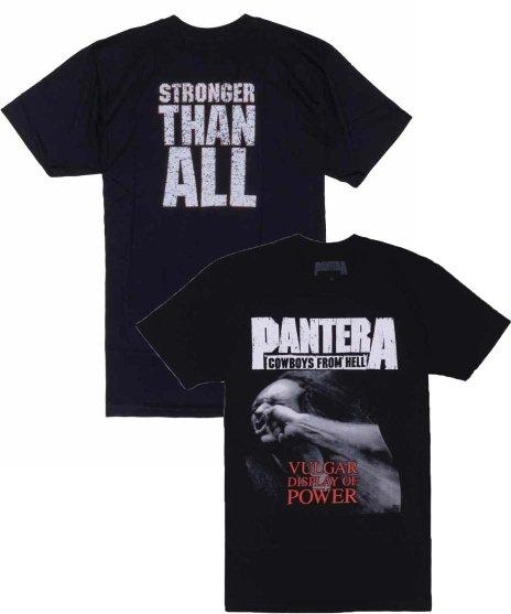 PANTERA Vulgar Display Of Power バンドTシャツカラー:ブラック<br>サイズ:M,L,XL<br>Vulgar Display Of Powerのジャケットデザイン