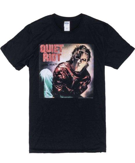 QUIET RIOT METAL HEALT  バンドTシャツカラー:BLK<br>サイズ:M,L<br>メタルヘルスのジャケットデザイン。