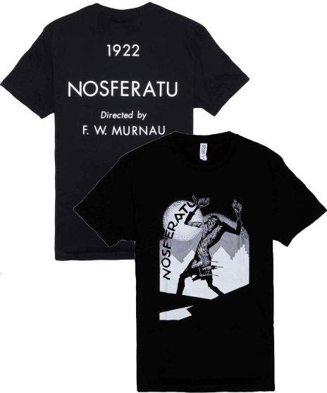 吸血鬼ノスフェラトゥ 映画メンズTシャツ  DOUBLE SIDEDカラー:BLK<br>M,XL<br>ポスターデザイン