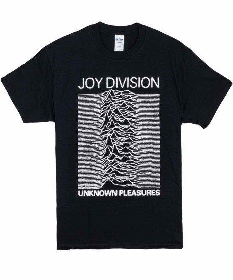 Joy Division バンドTシャツ Unknown Pleasures 2カラー:BLK<br>サイズ:S,M,L,XL<br>UNKNOWN PLEASURESアートワーク