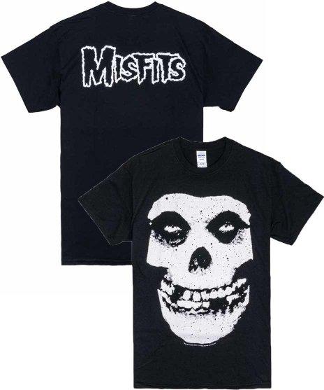 Misfits オフィシャルバンドTシャツ ラージスカルカラー:BLK <br>サイズ:M,L,XL<br>定番ラージスカル