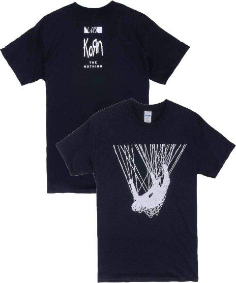 コーン ( Korn ) Nothing Man バンドTシャツカラー:ブラック<br>サイズ:M,L,XL<br>The NothingジャケットデザインTシャツ。