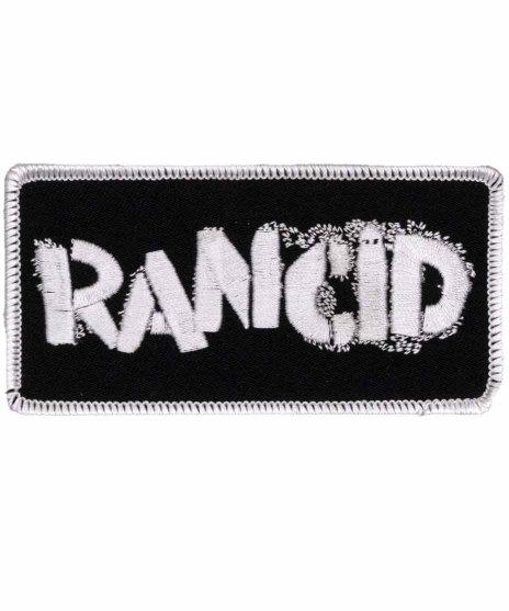 ランシド ( Rancid ) ステンシルロゴ 刺繍ワッペンカラー:BLK <br>サイズ:10 cm × 5 cm<br>ステンシルバンドロゴ