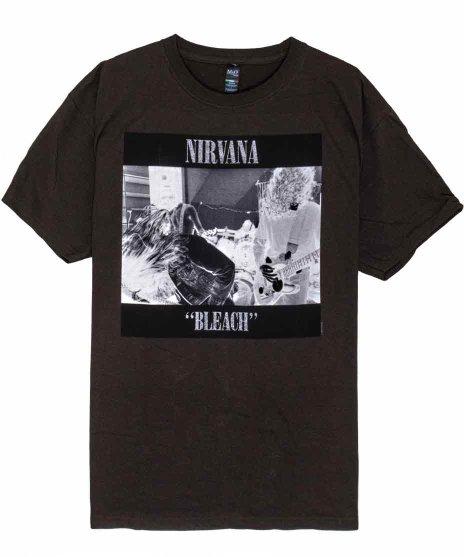 Nirvana(ニルヴァーナ) バンドTシャツ Bleachカラー:WHT<br>サイズ:M<br>カートのモノクロ写真