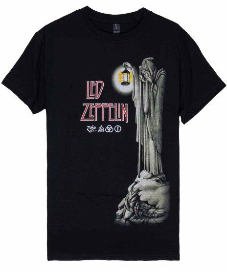 Led Zeppelin バンドTシャツ HERMITカラー:ブラック<br>サイズ:M,L,XL<br>4枚目のアルバムの内側のデザインです。