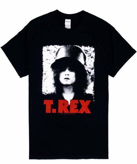 T-Rex バンドTシャツ PIXELATEDカラー:ブラック<br>サイズ:M,L.XL<br>1973年のアルバムThe Sliderのアートワーク
