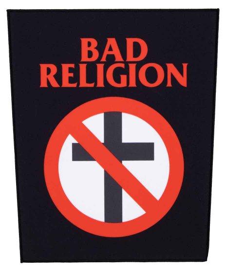 バッド レリジョン ( Bad Religion ) バンドロゴ バックワッペン  ( 大 ) クロスバスター